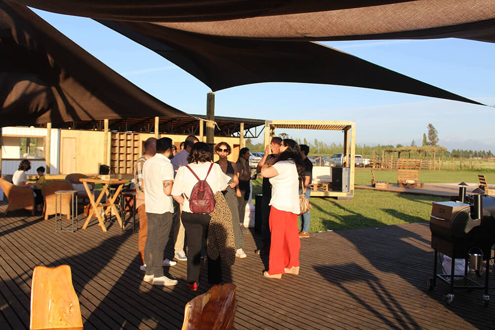 Evento PuroPellet terrazas Anka Mapu aire libre