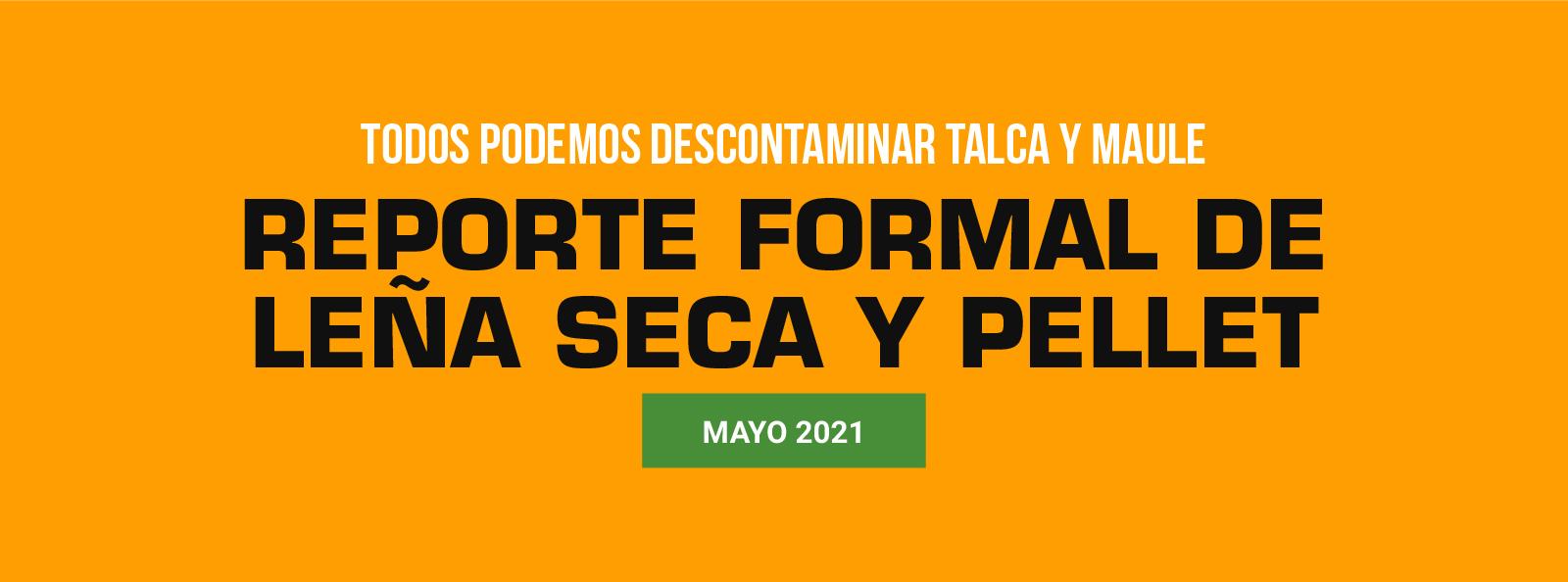 Reporte de comercio formal de leña seca y pellet mayo 2021