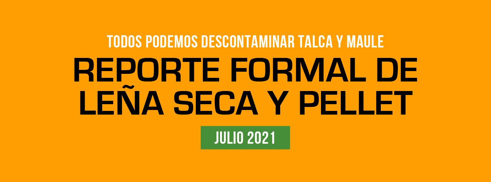 Reporte de comercio formal de leña seca y pellet julio 2021